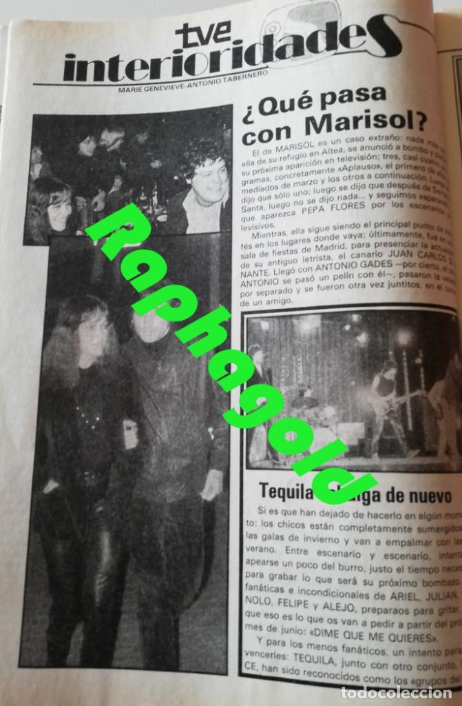 Coleccionismo de Revista Garbo: Revista Garbo nº 1407 Julio Iglesias Pedro Marin Mari Cruz Soriano Sara Montiel Marisol Nadiuska - Foto 3 - 170275300