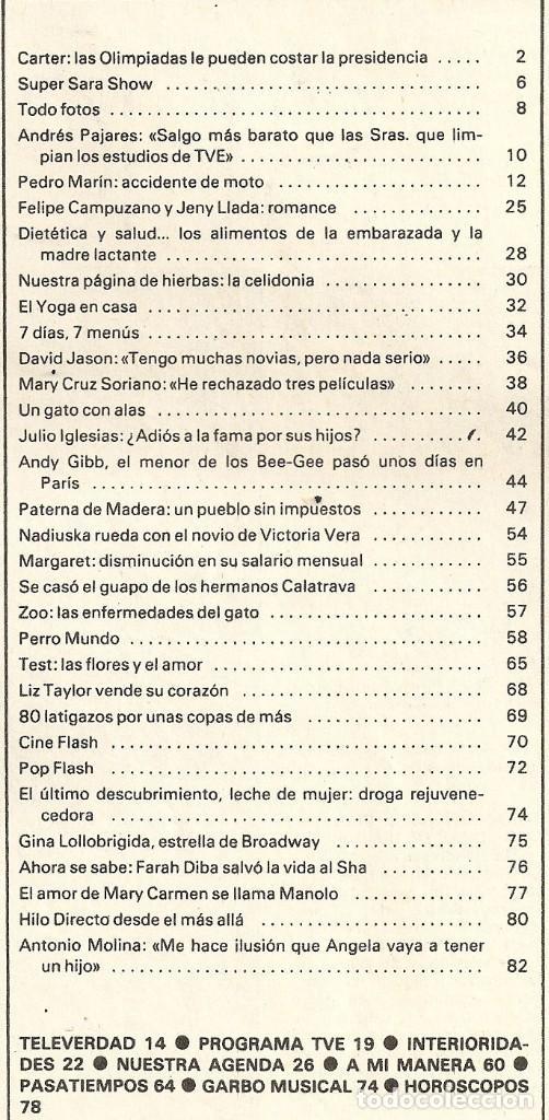 Coleccionismo de Revista Garbo: Revista Garbo nº 1407 Julio Iglesias Pedro Marin Mari Cruz Soriano Sara Montiel Marisol Nadiuska - Foto 8 - 170275300