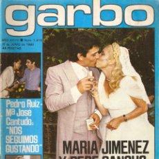 Collectionnisme de Magazine Garbo: REVISTA GARBO Nº 1415 MARIA JIMENEZ PEPE SANCHO MIGUEL BOSE VACACIONES EN EL MAR MARIA JOSE CANTUDO. Lote 209943585