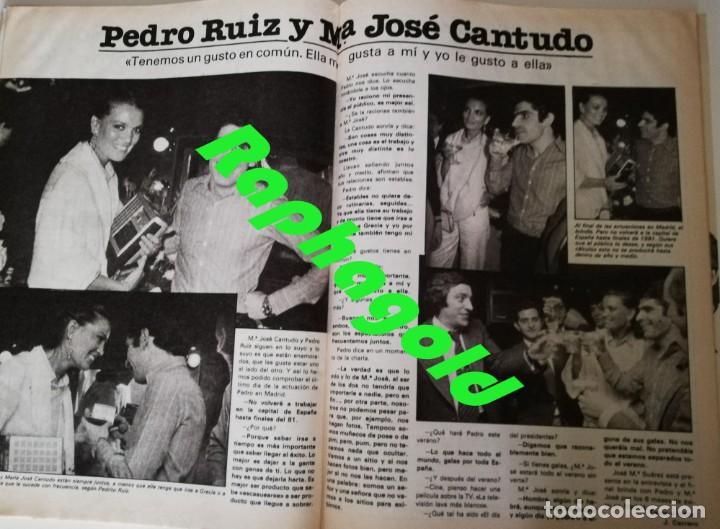 Coleccionismo de Revista Garbo: Revista Garbo nº 1415 Maria jimenez Pepe Sancho Miguel Bose Vacaciones en el Mar Maria Jose Cantudo - Foto 4 - 209943585