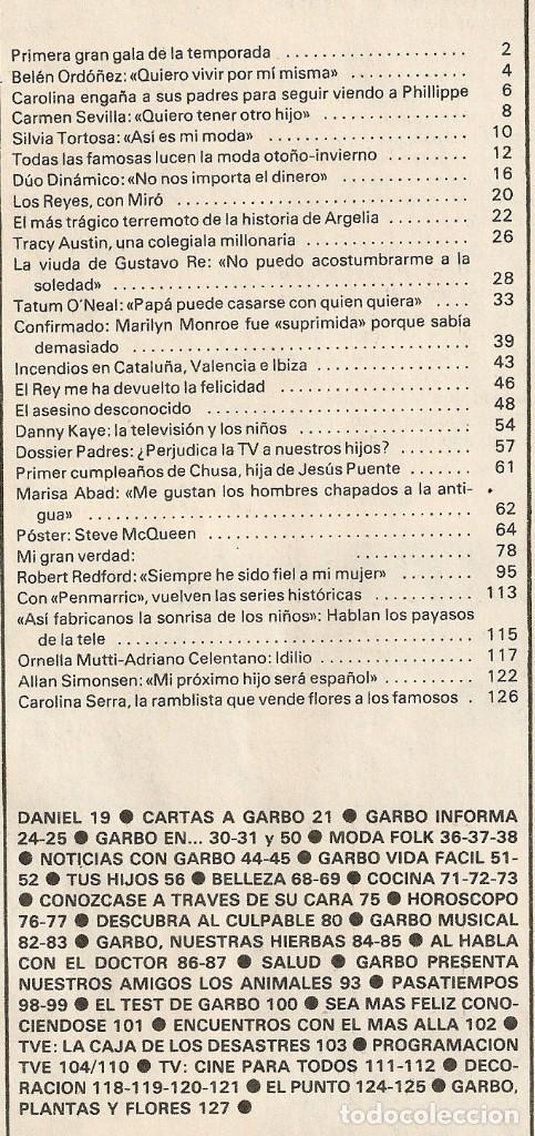 Coleccionismo de Revista Garbo: Revista GARBO 1434 Marilyn Monroe Carmen Sevilla Silvia Tortosa Dúo Dinámico Tatum ONeal Marisa Abad - Foto 9 - 170799410