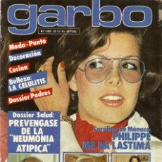 Coleccionismo de Revista Garbo: REVISTA GARBO Nº 1465 CAROLINA DE MÓNACO ROCÍO DÚRCAL VICKY LUSSON MARISOL UN DOS TRES EVA GLORIA. Lote 170882760