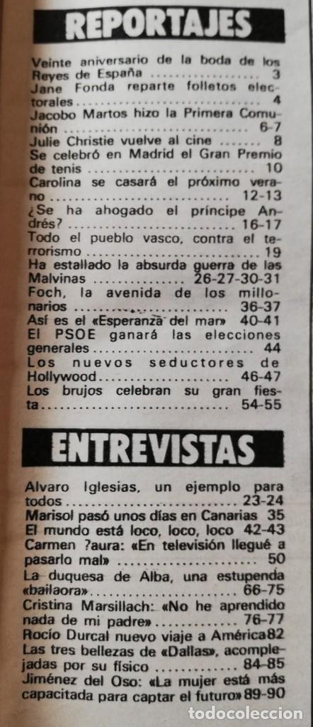 Coleccionismo de Revista Garbo: Revista Garbo nº 1517 Carolina de Monaco Jimenez del Oso Marisol Rocio Durcal Raphael Dallas - Foto 9 - 171121568