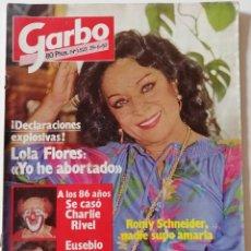 Collectionnisme de Magazine Garbo: REVISTA GARBO 1523 LOLA FLORES RAQUEL WELCH CHARLIE RIVEL ROLLING STONES DALLAS ANA TORROJA MECANO. Lote 171123245