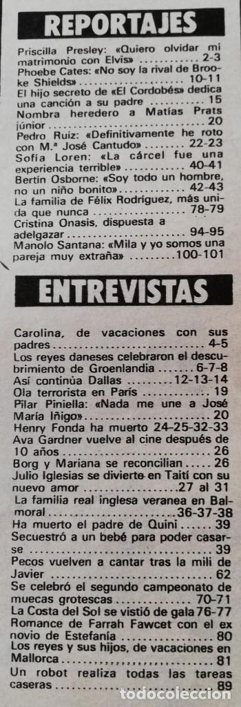 Coleccionismo de Revista Garbo: Revista GARBO nº 1531 Dallas J.R Priscilla Elvis Presley Phoebe Cates Julio Iglesias Farrah Fawcett - Foto 11 - 171125855