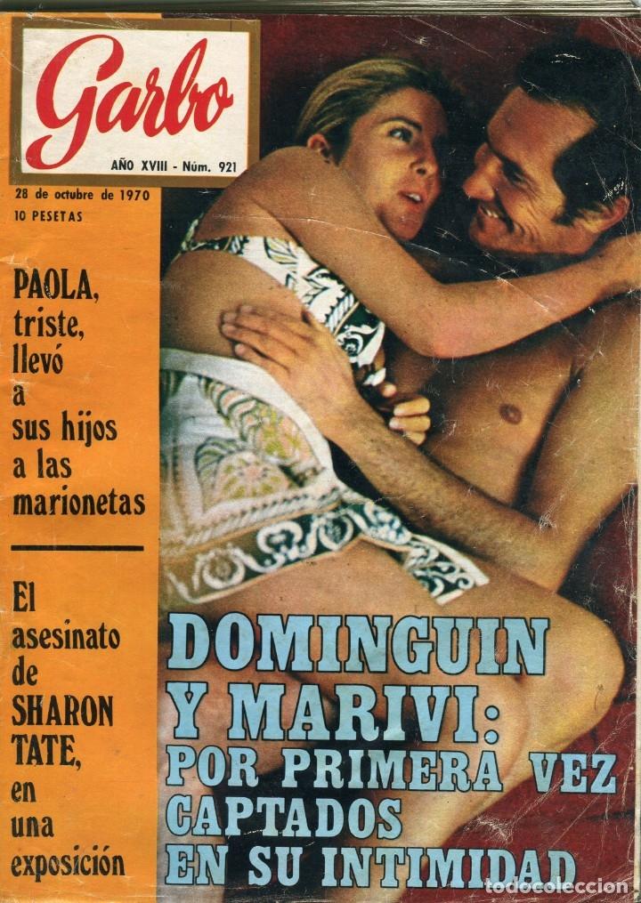 GARBO Nº 921-LUIS MIGUEL DOMINGUIN Y MARIVI LUCAS 15 PAGINAS 48 FOTOS 18 EN COLOR+30 EN B/N AÑO 1970 (Coleccionismo - Revistas y Periódicos Modernos (a partir de 1.940) - Revista Garbo)