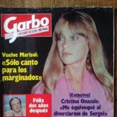 Coleccionismo de Revista Garbo: GARBO Nº 1509 DE 1982- MARISOL- CARMEN MAURA- VICTORIA ABRIL- ALAIN DELON- SYDNE ROME- LIZ TAYLOR- S. Lote 173067144