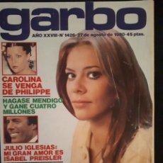 Coleccionismo de Revista Garbo: REVISTA GARBO Nº 1426.MARI CRUZ SORIANO, CAROLINA DE MÓNACO, JULIO IGLESIAS,... Lote 178007847