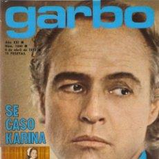 Coleccionismo de Revista Garbo: REVISTA GARBO Nº 1040 MARLON BRANDO KARINA ANTONIO GADES MARI TRINI ESTER SANTANA ANA BELEN. Lote 178648798