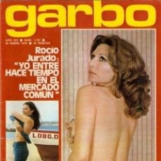 Coleccionismo de Revista Garbo: REVISTA GARBO Nº 1187 ROCIO JURADO AGATA LYS PILAR VELÁZQUEZ ROCIO DURCAL CAMILO SESTO MARISOL. Lote 178675795