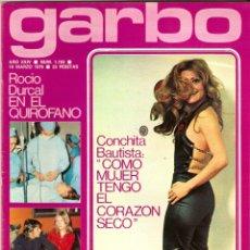 Coleccionismo de Revista Garbo: REVISTA GARBO Nº 1193 CONCHITA BAUTISTA EUROVISION ROCIO DURCAL MARISOL VERONICA MIRIEL JUNIOR. Lote 178676811