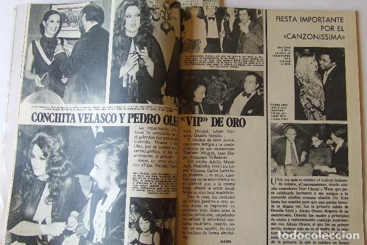 Coleccionismo de Revista Garbo: GARBO 1136 SARA MONTIEL CAMILO SESTO ALAIN DELON CONCHA VELASCO SILVIA TORTOSA ANTONIO FERRANDIS - Foto 5 - 178842143