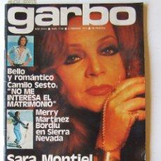 Coleccionismo de Revista Garbo: GARBO 1136 SARA MONTIEL CAMILO SESTO ALAIN DELON CONCHA VELASCO SILVIA TORTOSA ANTONIO FERRANDIS. Lote 178842143