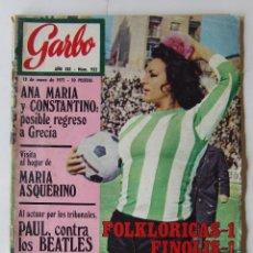 Coleccionismo de Revista Garbo: GARBO 932 1971 BEATLES LOLA FLORES GEORGES MOUSTAKI MINA ELVIS PRESLEY ANA BELEN JULIO IGLESIAS. Lote 182196273