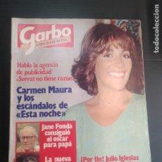 Coleccionismo de Revista Garbo: REVISTA GARBO 1980 PORTADA CARMEN MAURA . Lote 182309063