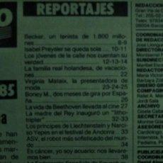 Coleccionismo de Revista Garbo: REVISTA GARBO 1684 PORTADA ISABEL PREYSLER 1985. Lote 183866837