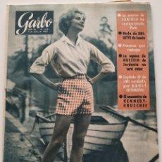 Colecionismo da Revista Garbo: REVISTA GARBO Nº 429 BRIGITTE DE SUECIA FABIOLA ADOLF EICHMANN KENNEDY KRUSCHEF 1961. Lote 190635265