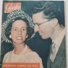 Coleccionismo de Revista Garbo: REVISTA GARBO Nº 447 FABIOLA DE BELGICA GARY COOPER LIZ TAYLOR INGRID BERGMAN ANETTE STROYBERG 1961. Lote 190707607
