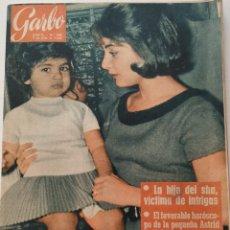 Coleccionismo de Revista Garbo: REVISTA GARBO Nº 486 SHANAZ DE PERSIA FARAH DIBA CARMEN SEVILLA SUE LYON VINTAGE (1962). Lote 191265123