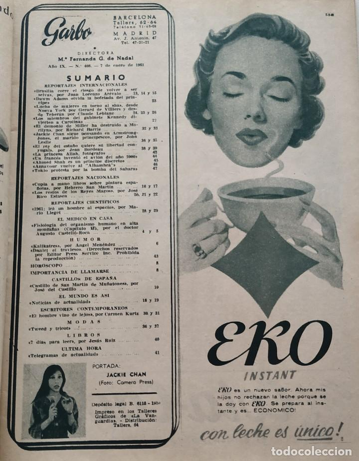 Coleccionismo de Revista Garbo: Revista GARBO nº 408 (1961) Jackie Chan Marilyn Monroe Arthur Miller Dawn Addams VINTAGE - Foto 5 - 192505836