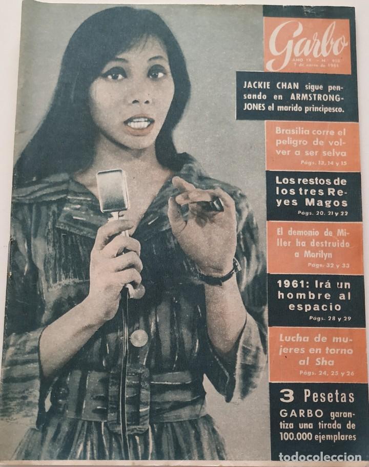 REVISTA GARBO Nº 408 (1961) JACKIE CHAN MARILYN MONROE ARTHUR MILLER DAWN ADDAMS VINTAGE (Coleccionismo - Revistas y Periódicos Modernos (a partir de 1.940) - Revista Garbo)