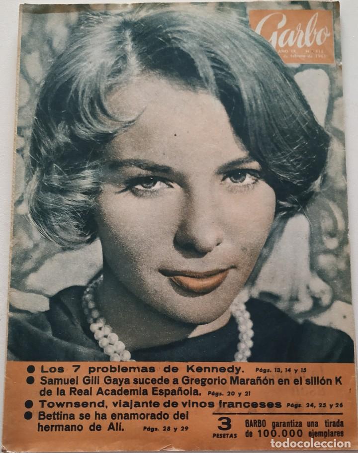 REVISTA GARBO Nº 413 (1961) FRANÇOISE ARNOUL KENEDDY AUDREY HEPBURN SOFIA LOREN GRACE KELLY VINTAGE (Coleccionismo - Revistas y Periódicos Modernos (a partir de 1.940) - Revista Garbo)