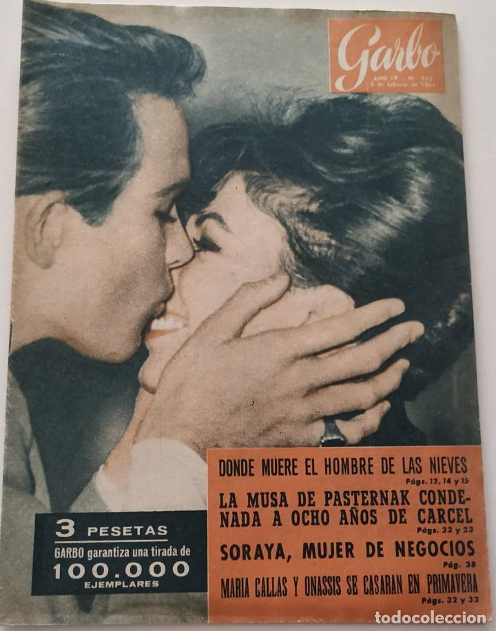 Coleccionismo de Revista Garbo: Revista GARBO nº 412 (1961) Joan Collins Warren Batty Maria Callas Onassis VINTAGE - Foto 1 - 192505963