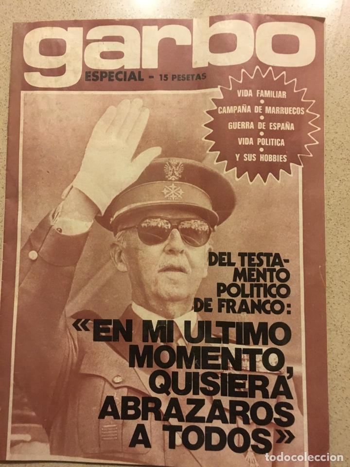 REVISTA GARBO ESPECIAL MUERTE FRANCO (Coleccionismo - Revistas y Periódicos Modernos (a partir de 1.940) - Revista Garbo)