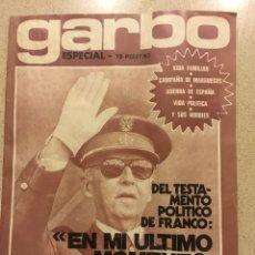 Coleccionismo de Revista Garbo: REVISTA GARBO ESPECIAL MUERTE FRANCO. Lote 193357006