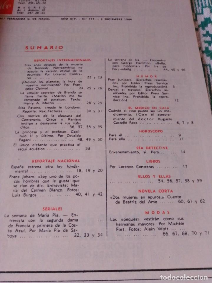 Coleccionismo de Revista Garbo: Revista Garbo 717. Año 1966. Marlon Brando-España-Kennedy-Rita Pavone-Grace y Raniero-Brigitta... - Foto 2 - 193417311