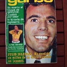 Coleccionismo de Revista Garbo: GARBO / JULIO IGLESIAS, SYLVIE VARTAN, INFANTA ELENA, CHAD EVERETT, MARLON BRANDO. Lote 195000466