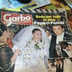 Coleccionismo de Revista Garbo: REVISTA GARBO AÑO 1983 NÚMERO 1568 AMPLÍSIMO REPORTAJE BODA ISABEL PANTOJA Y PAQUIRRI, PARCHÍS. Lote 195240547