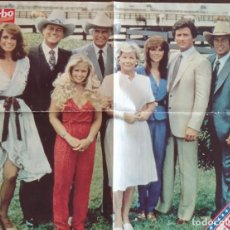 Collectionnisme de Magazine Garbo: CARTEL POSTER REVISTA GARBO SERIE DE TV DALLAS Y SPORT BILLY DIBUJOS ANIMADOS.. Lote 197103851