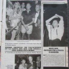 Colecionismo da Revista Garbo: RECORTE REVISTA SEMANA Nº 2428 1986 MIGUEL BOSÉ. Lote 198516162