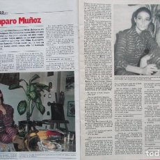 Coleccionismo de Revista Garbo: RECORTE REVISTA GARBO Nº 1487 1981 AMPARO MUÑOZ. Lote 199103723