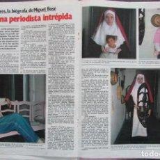 Coleccionismo de Revista Garbo: RECORTE REVISTA GARBO Nº 1487 1981 MARISA ARES, MIGUEL BOSÉ 3 PGS. Lote 199104022