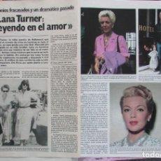 Coleccionismo de Revista Garbo: RECORTE REVISTA GARBO Nº 1487 1981 LARA TURNER. Lote 199104756