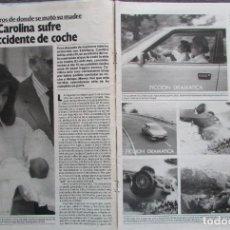 Coleccionismo de Revista Garbo: RECORTE REVISTA GARBO Nº 1742 1986 CAROLINA DE MÓNACO. MARI CRUZ DÍAZ. Lote 199151226