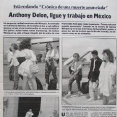 Coleccionismo de Revista Garbo: RECORTE REVISTA GARBO Nº 1742 1986 ANTHONY DELON, JACQUELINE BISSET. Lote 199151345