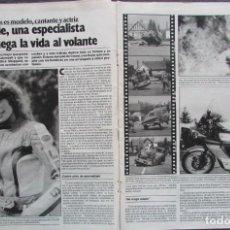 Coleccionismo de Revista Garbo: RECORTE REVISTA GARBO Nº 1742 1986 JACQUIE DE CREED. . Lote 199151446
