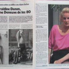 Coleccionismo de Revista Garbo: RECORTE REVISTA GARBO Nº 1742 1986 GERALDINE DANON. Lote 199151642