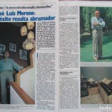 Coleccionismo de Revista Garbo: RECORTE REVISTA GARBO Nº 1742 1986 JOSÉ LUIS MORENO. Lote 199151753