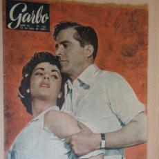 Coleccionismo de Revista Garbo: GRABO Nº 123. JULIO 1955. PORTADA ELISABETH TAYLOR Y DANA ANDREWS. BUEN ESTADO.. Lote 200384110