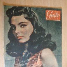 Coleccionismo de Revista Garbo: GARBO Nº 124. JULIO 1955. PORTADA JOAN COLLINS. BUEN ESTADO.. Lote 200384571