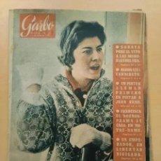 Coleccionismo de Revista Garbo: GARBO NUM 356. 1.960. NIXON. SORAYA. SHA. FRANCISCA DE BORBON.. Lote 202565723