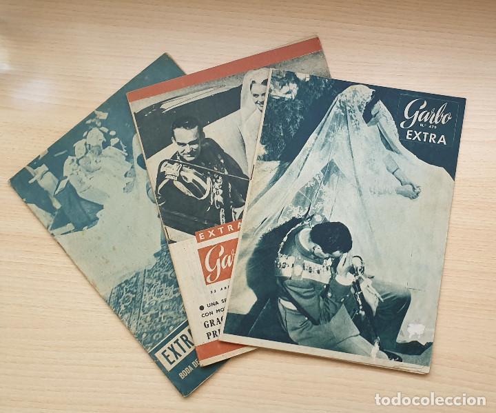 LOTE 3 REVISTAS GARBO - ESPECIALES BODAS REALES (Coleccionismo - Revistas y Periódicos Modernos (a partir de 1.940) - Revista Garbo)