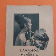 Coleccionismo de Revista Garbo: ANUNCIO PUBLICIDAD AÑO 1965 COSMÉTICA PERFUMERÍA LAVANDA DE MYRURGIA. Lote 205474542