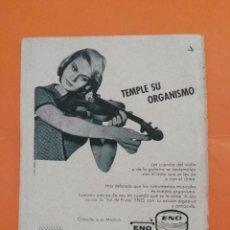 Coleccionismo de Revista Garbo: ANUNCIO PUBLICIDAD AÑO 1965 SAL DE FRUTA ENO. Lote 205474910