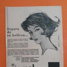 Coleccionismo de Revista Garbo: ANUNCIO PUBLICIDAD AÑO 1965 COSMÉTICA PERFUMERÍA VITAMOL. Lote 205475417