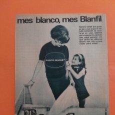 Coleccionismo de Revista Garbo: ANUNCIO PUBLICIDAD AÑO 1965 HOGAR SÁBANAS BLANFIL. Lote 205475590